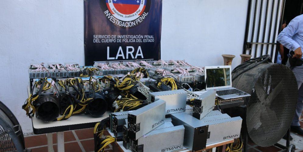 Decomisadas 21 máquinas minadoras de criptomonedas en Barquisimeto
