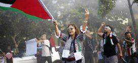 Policía chilena reprime protesta a favor de Palestina y anti-Trump
