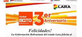 (+Audio) Gobernadora Carmen Meléndez felicita a Ciudad BQTO por su 3 aniversario