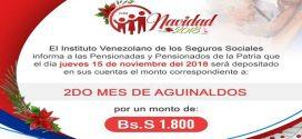Pensionados cobrarán el pago correspondiente al segundo mes de aguinaldos este jueves 15 de noviembre