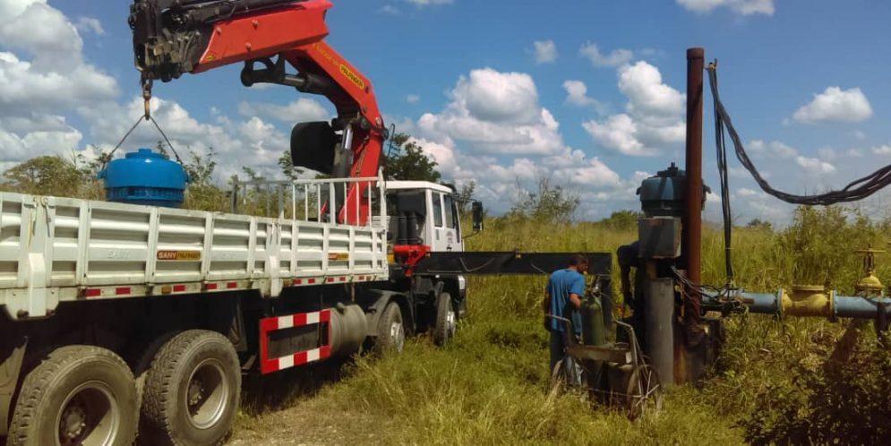 Hidrolara continuó recuperando el sistema hídrico en Palavecino